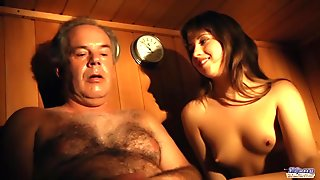Hairy Chested Grandpa Fucks Teen With Tight Young Pussy