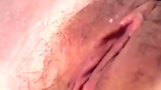 ENGLAND MILF WITH GLASSES AND HAIRY PUSSY LOVES TO PLAY WITH DILDO