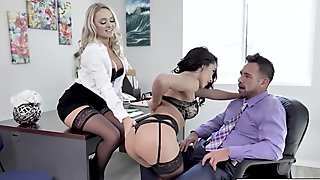 Fetish sex with HOT babes Alexis Monroe and Adrian Rush
