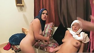 Teen pool orgy Hot arab women try foursome