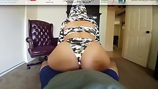Military Big Booty Latina Reverse Cowgirl's My Cock Las Vegas Booty POV