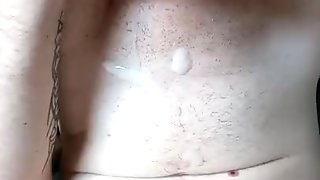 Wanking big thick cock and cummed