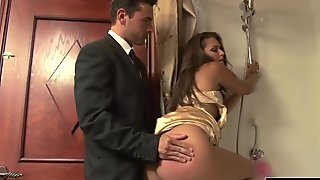 Amazing Latina gets jizzed on during sex