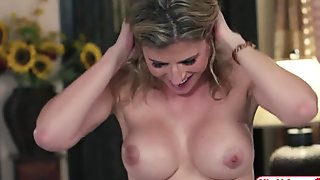Busty stepmom Cory Chase licks Bailey Brookes wet pussy