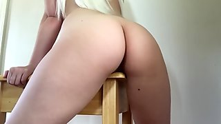 HUMPING A TABLE HARD MAKES HER CUM 3 TIMES